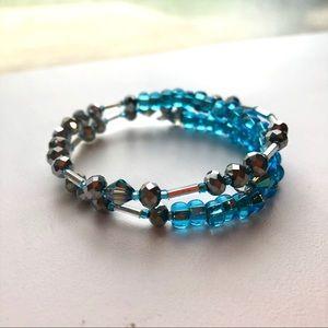 Jewelry - Morse code message bracelet handmade beaded wrap